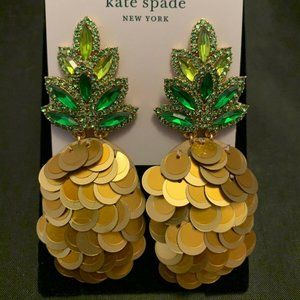 Kate Spade By The Pool Pineapple Statement Studs